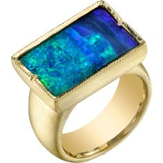 Irene Neuwirth Boulder Opal Ring ($11,060) ❤ liked on Polyvore