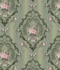Really beautiful wallpaper! Pink and green vintage wallpaper Victorian Dolls, Victorian Dollhouse, Victorian Art, Victorian Fashion, Miniature Dollhouse, Decoupage Vintage, Decoupage Paper, Vintage Paper, Vintage Pink