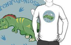 Cute Carcharodontosaurus T-shirts & Hoodies #carcharodontosaurus #dinosaurs #green #jurassic #cute