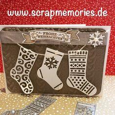 Home - Scrapmemories | Basteln in Ingolstadt | Stampin up, Stampinup, Weihnachtskarte, Glückwunschkarte, Stempel, Stanzen, Von den Socken, Stempelset, Diy, Thinlitsformen, Weihnachtsstrümpfe, Weihnachtsstern,
