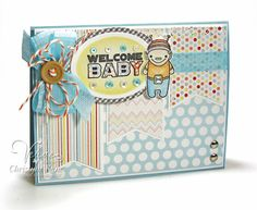 Card by Christyne Kane using Birthday Bots from Verve.  #vervestamps
