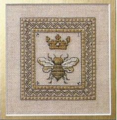 Queen Bee is the title of this cross stitch pattern from The Bee Cottage that is the first in a series of bee-related designs. The price includes the cross stitch pattern and embellishment.