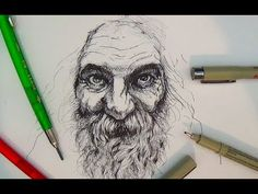 Pen and Ink Drawing Tutorials | Portrait Drawing Demonstration II - YouTube