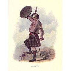 ed1c47adcf Highland Clans of Scotland 1923 Murray Canvas Art - Robert R McIan (18 x 24)