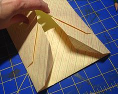 Hello Everyone, I am changing the order of things around just a bit because I realised I needed to have the exact measurements of the pock. Folded Book Art, Paper Book, Book Folding, Paper Art, Paper Folding, Envelopes, Bookbinding Tutorial, Bookbinding Ideas, Book Journal