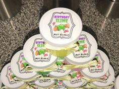 Slime Party Favor Sticker. Personalized Sticker for Slime.