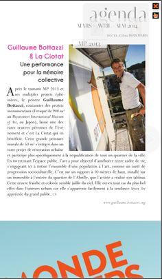 Guillaume Bottazzi : Toutma magazine – Printemps 2014