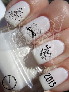 Happy New Year 2015 New Years Eve  Nail Art Water by SWNails
