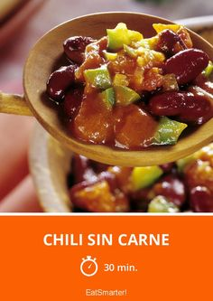 Chili sin Carne - smarter - Zeit: 30 Min. | eatsmarter.de