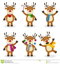 Reindeer, Clip art and Art on Pinterest