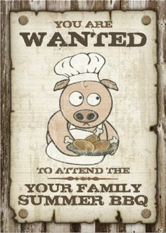 Wanted Family Summer BBQ invitations. Easy to customize! #family_reunion_invitations