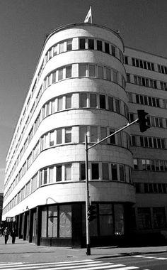 modernism in Gdynia, Poland Art Deco, Art Nouveau, School Architecture, Modern Architecture, Bauhaus, Academic Art, Name Art, Amsterdam, Central Europe