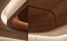 Interior Ceiling Design, Clinic Interior Design, Interior Design Elements, False Ceiling Design, Ceiling Plan, Floor Ceiling, Architecture Details, Interior Architecture, Cove Lighting