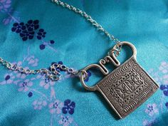 Asian Tribal ♥ Human Spirit Soul Lock Necklace Thailand Hill by xsoulsearchingx, $34.99