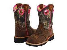 Ariat Kids Fatbaby Cowgirl (Toddler/Youth) - she would love the camo & hot pink