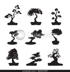 901557957-Bonsai-Trees-Silhouettes-Set.jpg (450×464)
