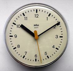 Dieter Rams and Dietrich Lubs, 4833 Wall Clock for Braun, 1979 – We collect similar ones – Only/Once – www.onlyonceshop.com