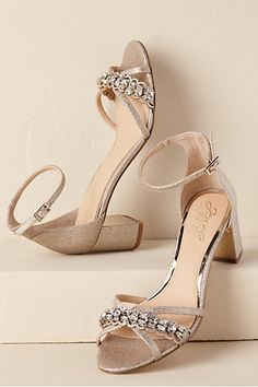 459a63d93b BHLDN Jewel by Badgley Mischka Giona Block Heels Pink in Shoes & Accessories