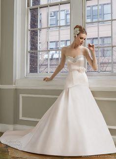 moonlight collection fall 2013 2014 bridal blush pink wedding dress style j6273