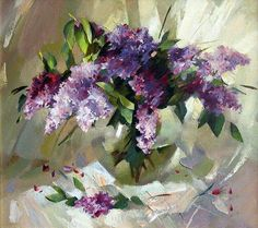 Lilac Painting, Oil Painting Flowers, Watercolor Artists, Watercolor Flowers, Oil Painting Texture, Paintings Famous, Rabbit Art, Acrylic Painting Techniques, Impressionist Art