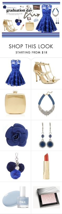 """Graduation {2}"" by bettismy ❤ liked on Polyvore featuring Hedi Slimane, Dee Keller, Serpui, BaubleBar, Nine West, Sinclair, Burberry, MAC Cosmetics and Graduation"