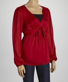 Another great find on #zulily! Ruby Draped V-Neck Top by Barbara Lesser #zulilyfinds