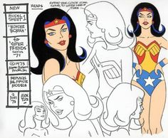 Superfriends Animation Cel model sheet - Alex Toth, in Joel Thingvall GALLERY OF WONDER WOMAN ART's Wonder Woman in Ads / Animation / Oddities Comic Art Gallery Room - 51826
