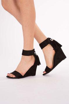 Tassle Back Heeled Sandals