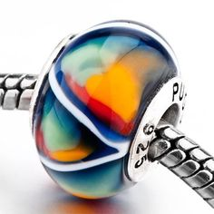 pugster fantasy 925 sterling silver solid cores murano glass beads fits pandora biagi chamilia charm bracelets