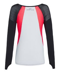 Another great find on #zulily! Black & Cupid Red Sporty Splice Top #zulilyfinds