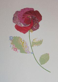 Iris folded rose card