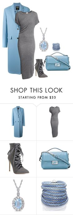 """""""Untitled #562"""" by bsimontwin ❤ liked on Polyvore featuring MSGM, Fendi and Sif Jakobs Jewellery"""