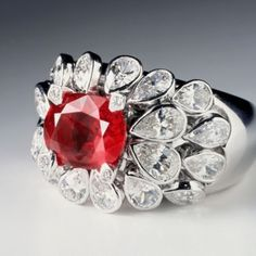Chanel Ruby 3 ct. and Diamond Ring