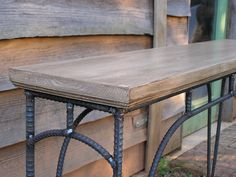 Custom Industrial Coffee Table Sofa Table Side Table. $295.00, via Etsy.
