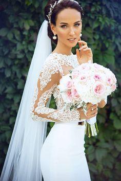 "Congrats to beautiful Julia, winner of ""Russia Next Top-Model""! You were just stunning in your BERTA dress <3 #Bertabride"