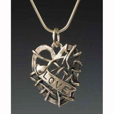 Sherri Cohen Design Heart Full Of Love Necklace, Artistic Artisan Designer Jewelry