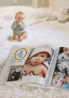 Capture the memories of baby& first year with a month by month baby photo book. Our Baby, Baby Boy, Baby Photo Books, Creation Photo, Little Presents, Babies First Year, 1st Year, Baby Memories, Baby Shower