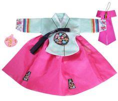 first birthday hanbok for my baby girl