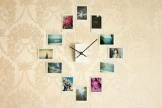 Make a wall clock with Instagram photos or Polaroids. | 39 Easy DIY Ways To Create Art For Your Walls