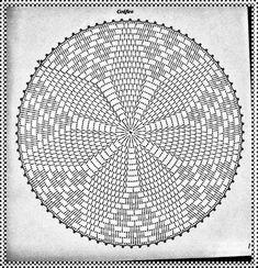Ideas Crochet Beanie Pattern Free Basic For 2019 Free Crochet Doily Patterns, Crochet Doily Diagram, Crochet Beanie Pattern, Crochet Circles, Crochet Motifs, Crochet Chart, Thread Crochet, Filet Crochet, Crochet Designs