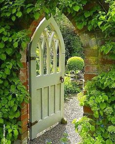 Beautiful gate into the walled garden.