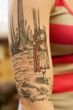 Little Red Riding Hood tattoo, fairy tale tattoo