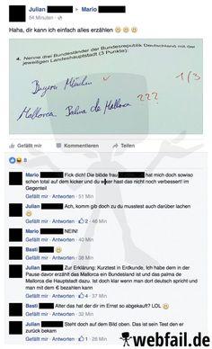 Wer abschreibt, der bleibt - Facebook Fail des Tages 17.08.2016 | Webfail - Fail Bilder und Fail Videos