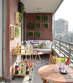 How to update your balcony for summer - Project Laurie Apartment Balcony Garden, Small Balcony Garden, Small Balcony Design, Small Balcony Decor, Apartment Balcony Decorating, Outdoor Balcony, Apartment Balconies, Terrace Design, Cute Apartment Decor
