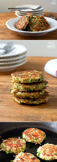 Zucchini Fritters...leave out the cheese in the recipe and add it to the top to melt...(raw)...use coconut flour...absorbs liquid and better than wheat.  Cook in coconut oil.