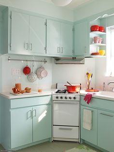 Retro Küche Blau Leuchter Schrank Idee | Wohnungseinrichtung | Pinterest |  Kitchens And Interiors