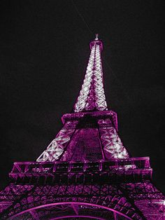 nothing like a kiss in Paris on the Eiffel Tower. Purple Love, All Things Purple, Purple Rain, Shades Of Purple, Magenta, Purple Stuff, Torre Eiffel Paris, Paris Eiffel Tower, My Favorite Color