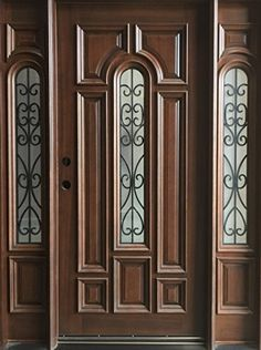 Triple Center Arch Mahogany Wood Door Iron Insert with Frosted Glass APP DOORS http://smile.amazon.com/dp/B00XK31JRW/ref=cm_sw_r_pi_dp_qqsuwb0NF5BYW