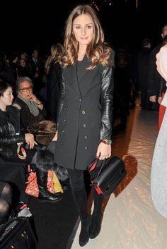 Front row en NY Fashion Week. Olivia Palermo, en Carolina Herrera.
