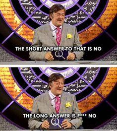 Stephen Fry- QI. X)
